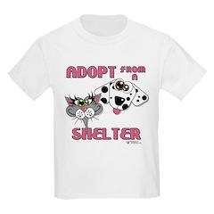 Adopt from a Shelter Kids Light T-Shirt