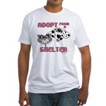 Adopt from a Shelter Fitted T-Shirt