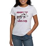 Adopt from a Shelter Women's T-Shirt
