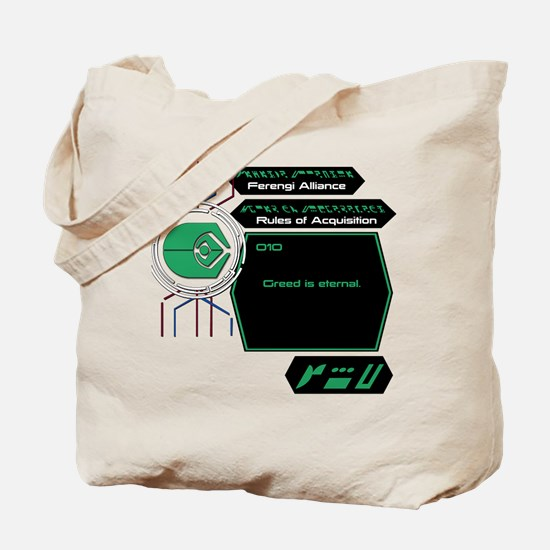 Rules of Acquisition 010 Tote Bag