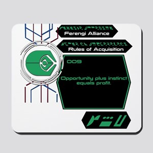 Rules of Acquisition 009 Mousepad