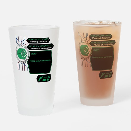 Rules of Acquisition 007 Drinking Glass