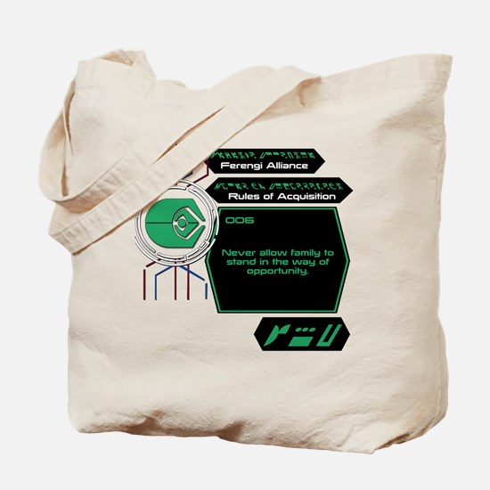Rules of Acquisition 006 Tote Bag