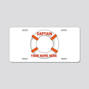 Customizable Life Preserver Aluminum License Plate