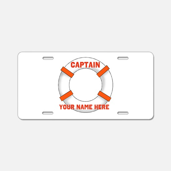 Customizable Life Preserver Aluminum License Plate