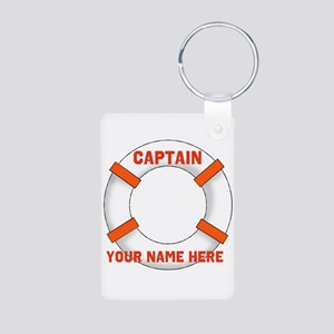 Customizable Life Preserver Aluminum Photo Keychai