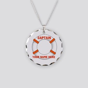 Customizable Life Preserver Necklace Circle Charm
