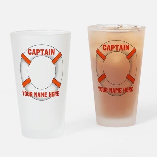 Customizable Life Preserver Drinking Glass