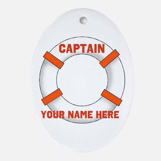 Customizable Life Preserver Ornament (Oval)