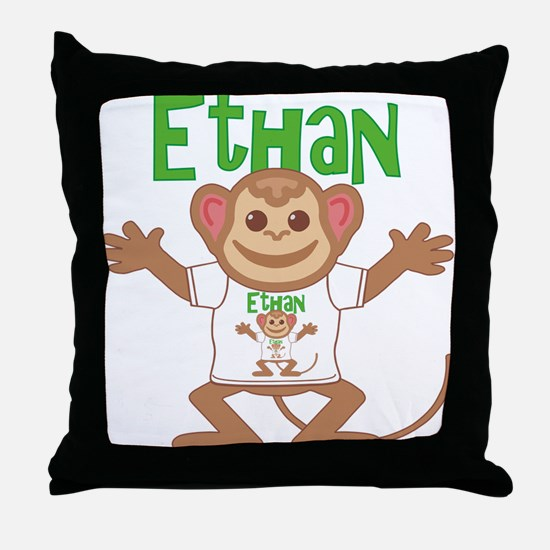 Little Monkey Ethan Throw Pillow
