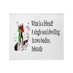 A Friend Throw Blanket