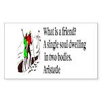 A Friend Sticker (Rectangle)