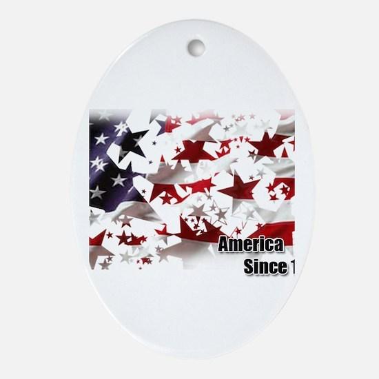 America Since 1776 Ornament (Oval)