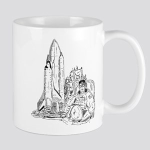 Astronaut & Space Shuttle Mug