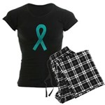 Teal Ribbon Women's Dark Pajamas