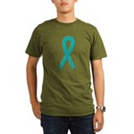 Teal Ribbon Organic Men's T-Shirt (dark)