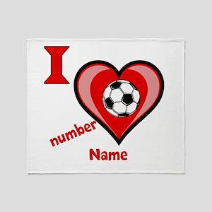 Customizable Soccer Love Throw Blanket