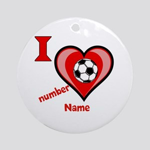 Customizable Soccer Love Ornament (Round)