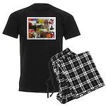 Autumn Collage Men's Dark Pajamas