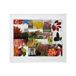 Autumn Collage Throw Blanket