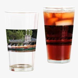 Lagoon Bridge and Swan Boat Rides Drinking Glass