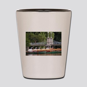 Lagoon Bridge and Swan Boat Rides Shot Glass