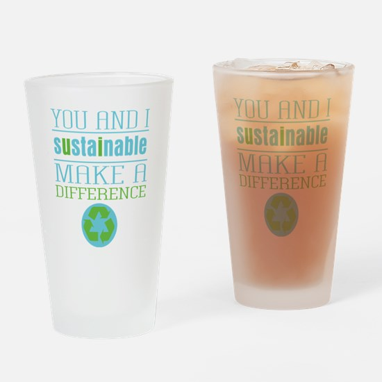 You and I Sustainability Drinking Glass