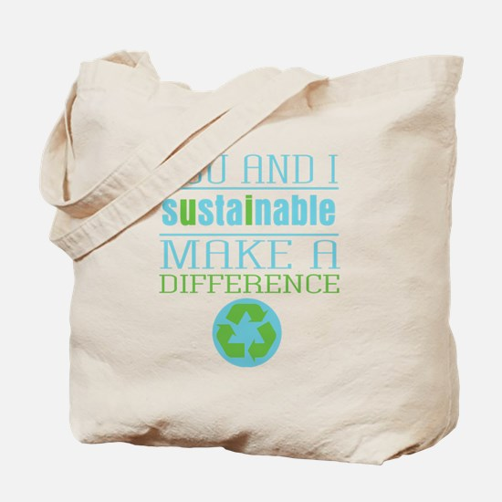 You and I Sustainability Tote Bag