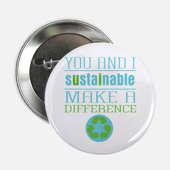 """You and I Sustainability 2.25"""" Button"""