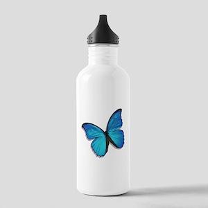 Blue Morpho Butterfly Stainless Water Bottle 1.0L