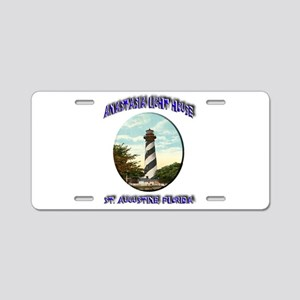 Anastasia Light House Aluminum License Plate