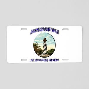 Anastasia Light House Aluminum License Plate