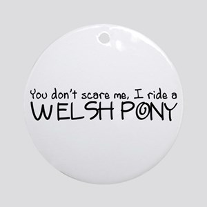 Welsh Pony Ornament (Round)