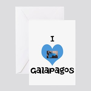 I love Galapagos Greeting Card