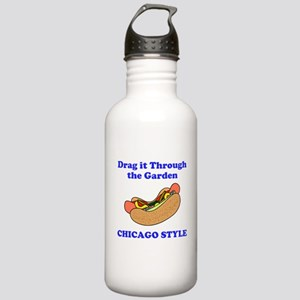 Chicago Style Hotdog Stainless Water Bottle 1.0L