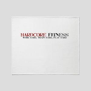 Hardcore Fitness Throw Blanket