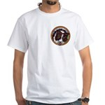 Mac's Redhead WhiteT-Shirt, pocket area