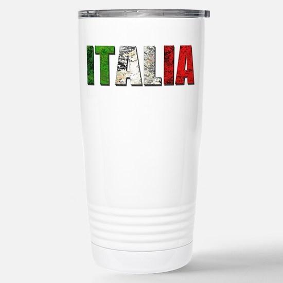 Italia Logo Stainless Steel Travel Mug