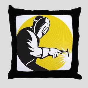welder welding Throw Pillow