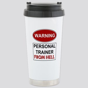 Warning Personal Trainer from Stainless Steel Trav