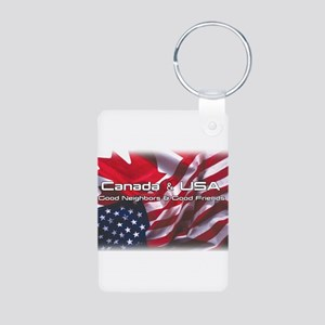 USA & Canada Aluminum Photo Keychain