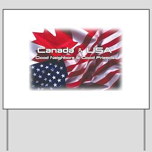 USA & Canada Yard Sign