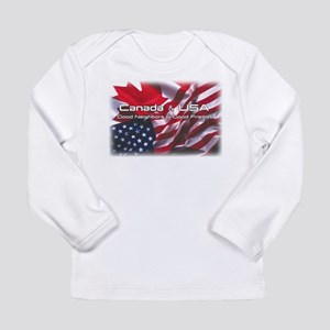 USA & Canada Long Sleeve Infant T-Shirt