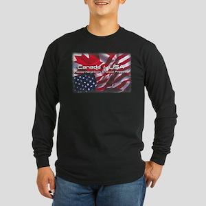 USA & Canada Long Sleeve Dark T-Shirt