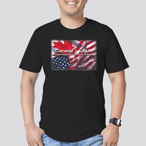 USA & Canada Men's Fitted T-Shirt (dark)