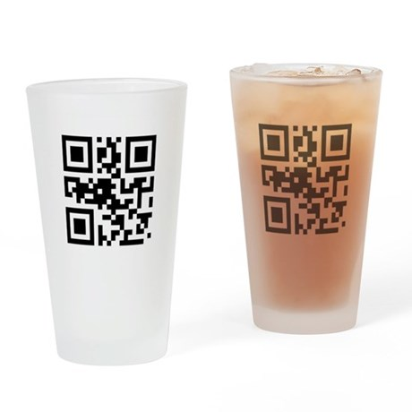 'Input Beer Here' QR Code Drinking Glass