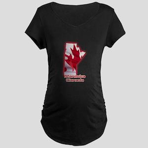 Manitoba, Canada Maternity Dark T-Shirt