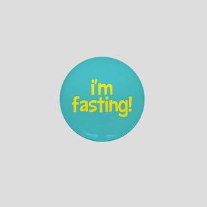 Fasting Mini Button (yellow+turquoise)
