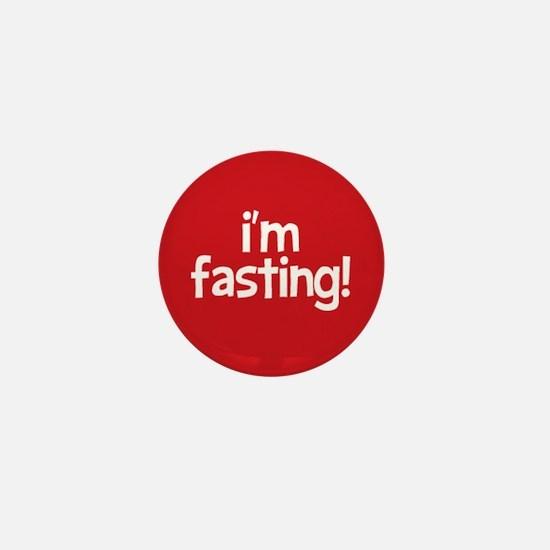 Fasting Mini Button (red)