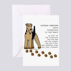 Airedales Greeting Cards (Pk of 10)